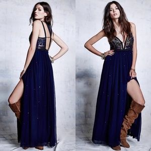 Free People Golden Chalice Dress | Navy | Size 6